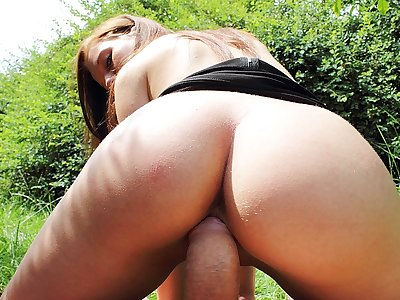 Ideal pornography in public flick with a fleshy chick