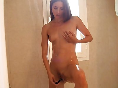 My trampy fledgling girlfriend plays with a fuck stick and my beef whistle